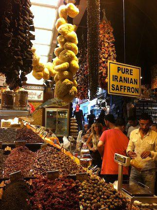 A Spice Market in Istanbul, Turkey.
