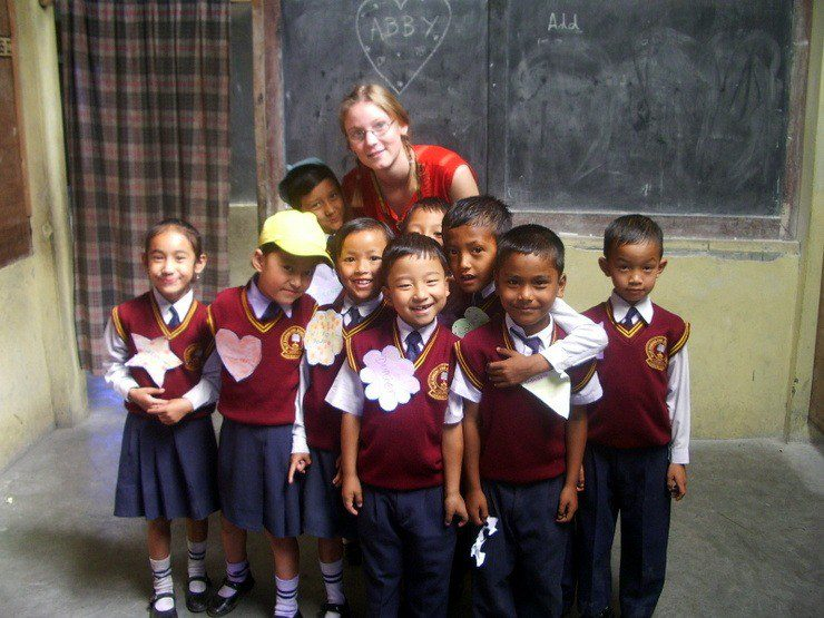 Happy students in Abigail's class in India!