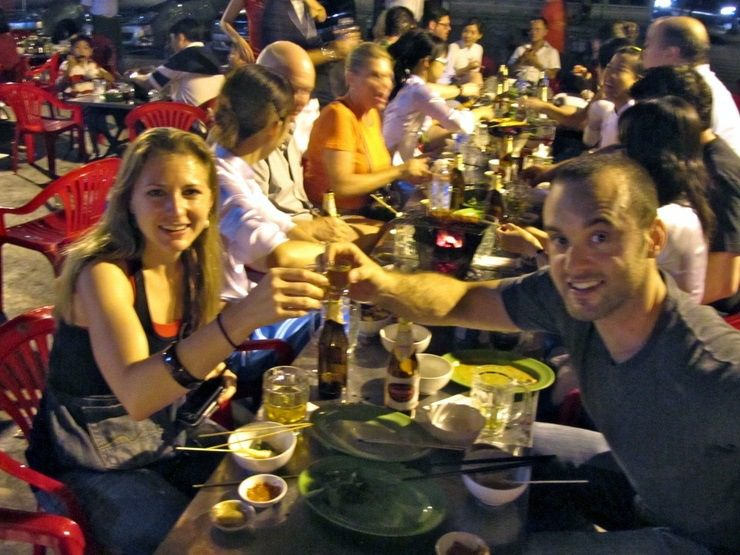 On the XO foodie tour in Ho Chi Minh City in Vietnam.