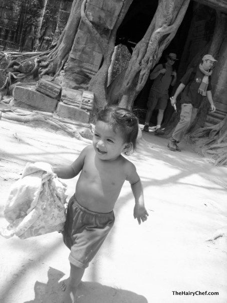 A child playing in Thailand.