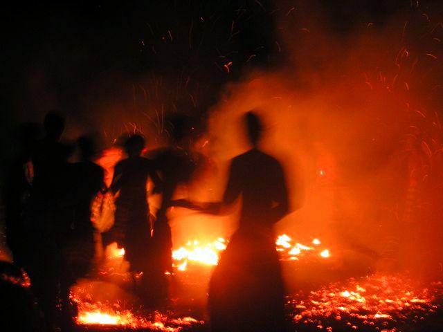 Fire dancers in Bali, seen during a break from Hong Kong teaching!