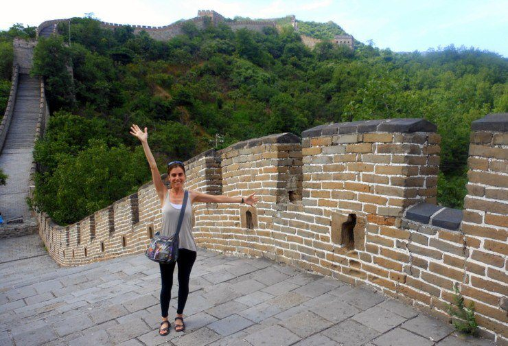 Grace on the Great Wall of China!