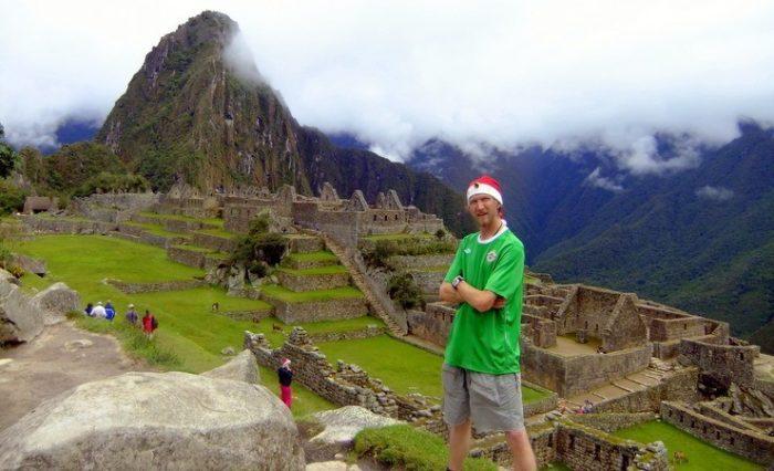 Jonny in Machu Picchu, Peru after the 4 day Inca Trail.