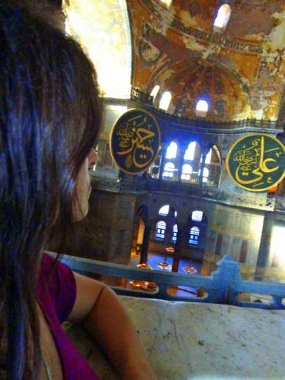 In the Hagia Sophia, Istanbul, Turkey.