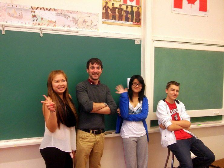 Mat with his new students in Vancouver, Canada.