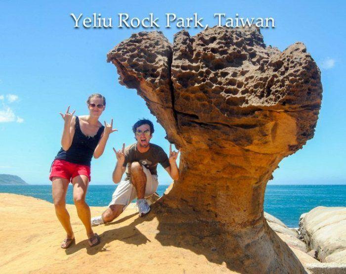 That rock looks like a scary beast!
