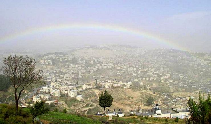 A rainbow over Jerusalem... January 2013.