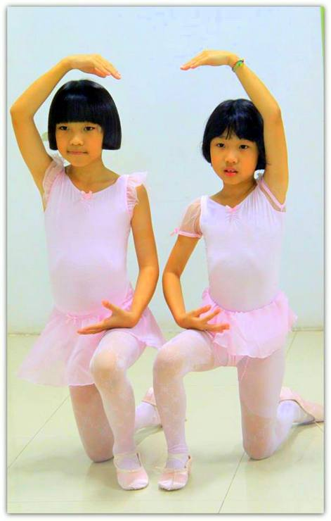 Two of Klelia's ballet students in Thailand.