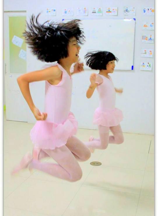 Klelia's ballet students having fun after class.