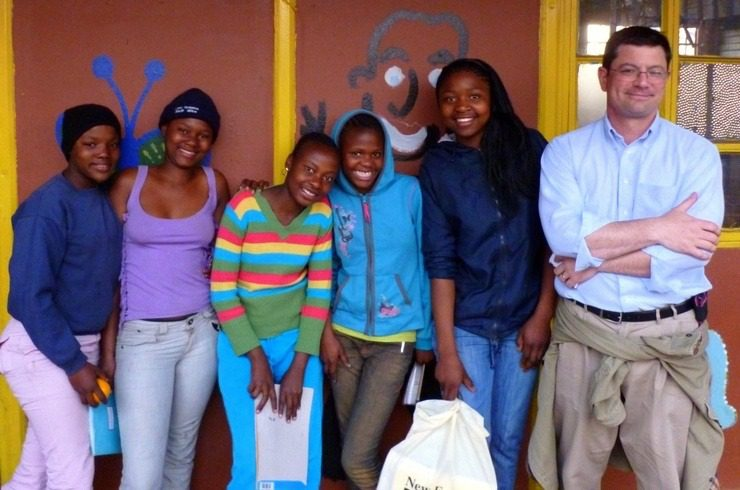 John volunteering at the Kliptown Youth Program in Soweto, South Africa.