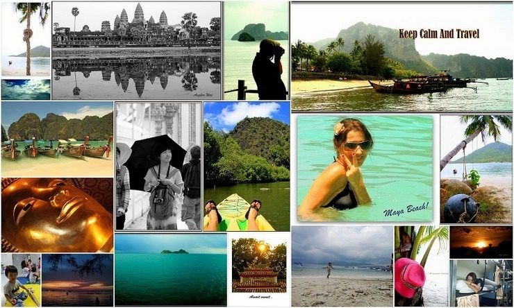 A montage of photos from Klelia's around the world trip.