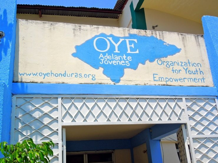 Organization for Youth Empowerment's logo is proudly displayed throughout the city.