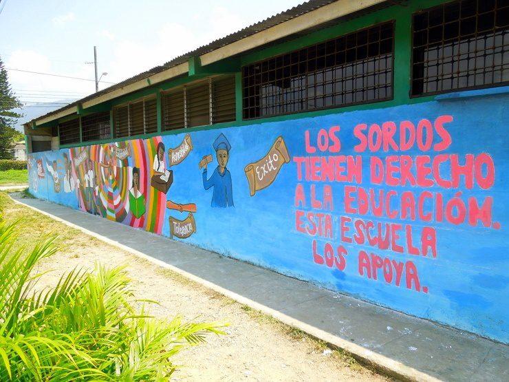 A week volunteering in honduras to paint a school mural for Education mural
