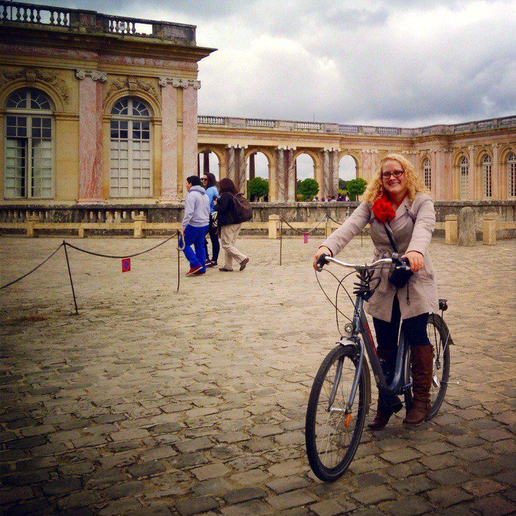 Biking around Versailles Palace, France, in September 2013.