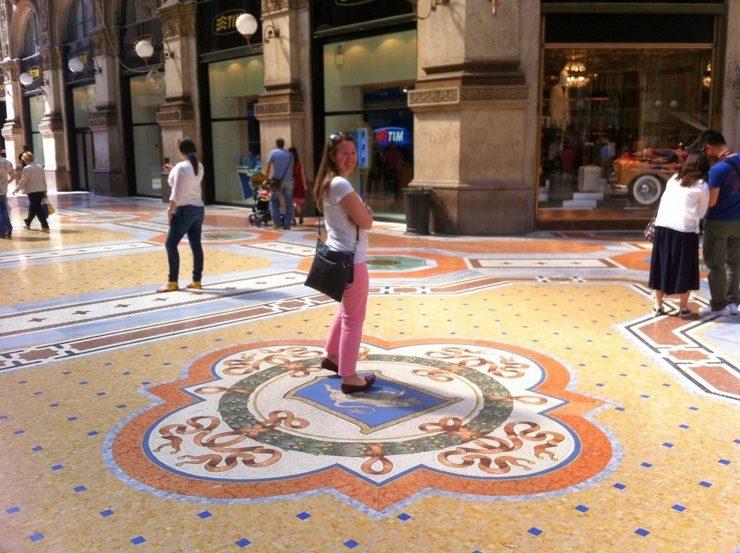 The Galleria Vittorio Emanuele II (big shopping mall) in Milan, Italy.