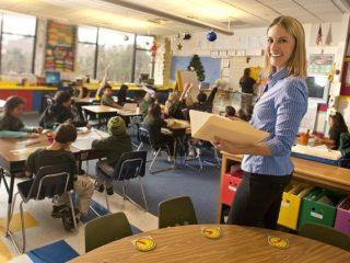 Tara at the University of Nevada's Child Development Classroom.