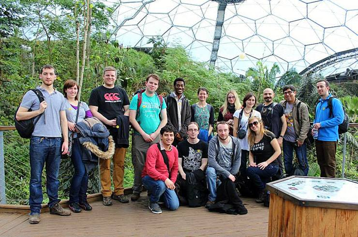 Visiting Eden project with colleagues of the Tremough Postgrad Society.