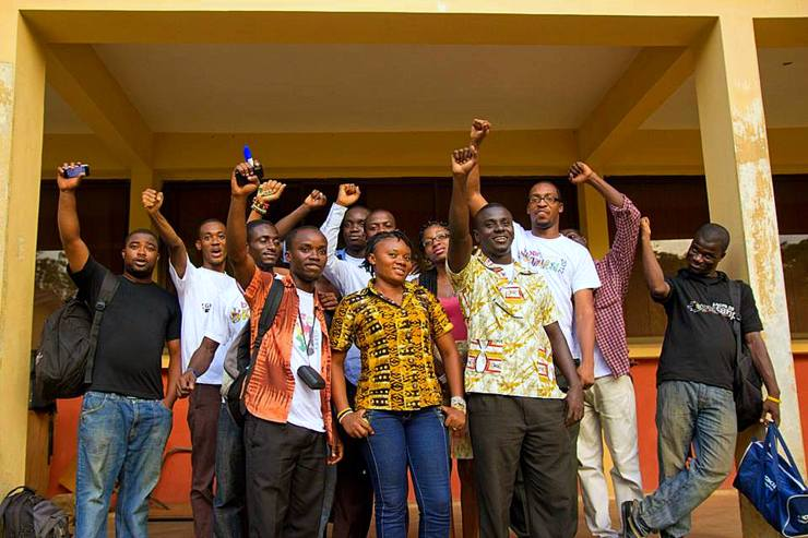 With Colleagues at BarCamp Sunyani, 2012.