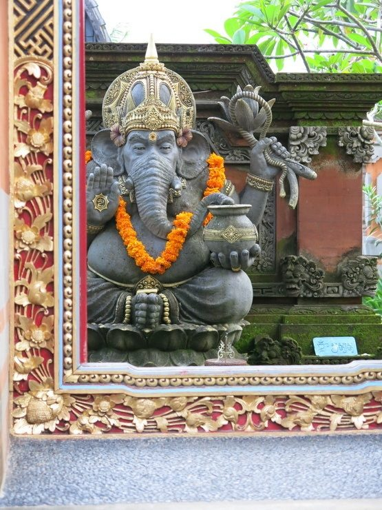 Ganesh is a common sight in spiritual Ubud, Bali.