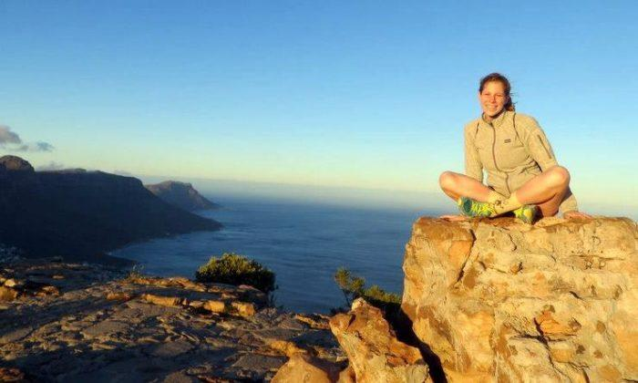 Mica Me on the top of Lion's Head Mountain, South Africa.