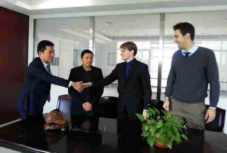 Eric teaching Economics in China.