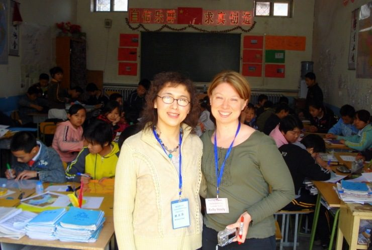 Teaching at the Dandelion School, Daxing District, Beijing, China.