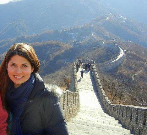 Amanda on the Great Wall of China.
