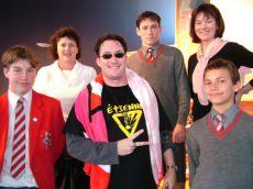 Steven with fans in Dunedin, New Zealand.
