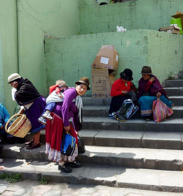 A Cañar woman and baby, in Cañar, Ecuador, 2010.