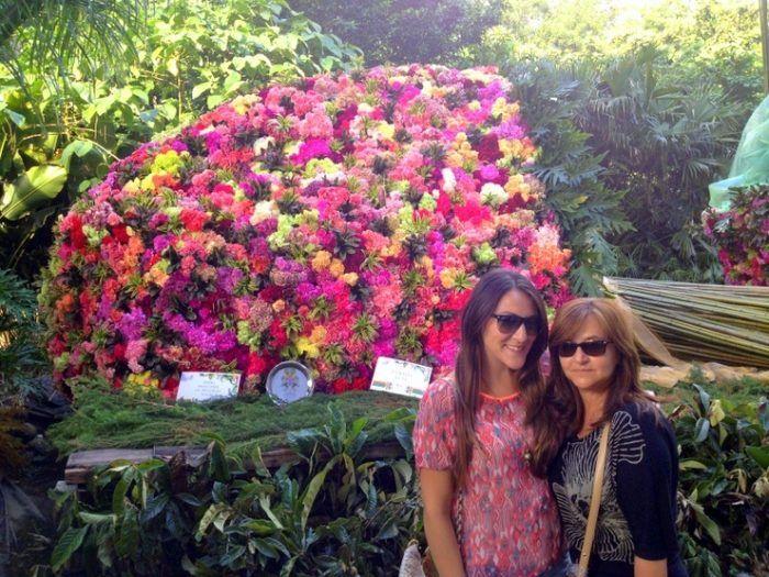 """Ana and her mom enjoying """"la Feria de las Flores"""" (the Flower Festival)."""