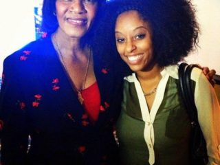 Shelah with Portia Simpson, The Prime Minister of Jamaica in August 2013.