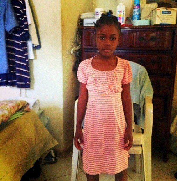 Rose pictured in a dress Shelah sent her in 2013..
