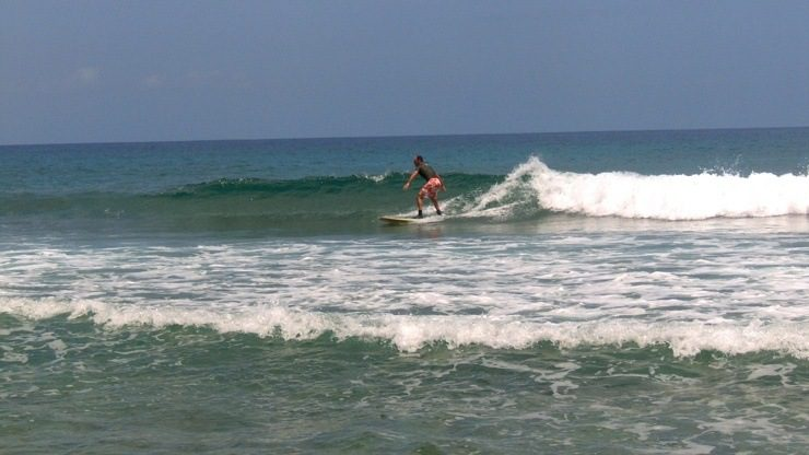 Wow -- Adam really can surf!