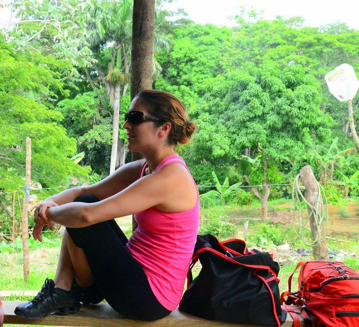 Emine in the Dominican Countryside.