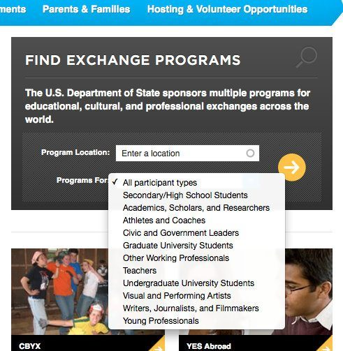 Look at the many options for WHO can do these exchange programs.