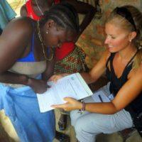 Brooke working in Sierra Leone.