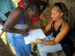 Brooke working in Sierra Leone.