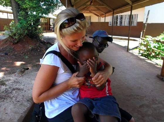 Cuddles in Sierra Leone.