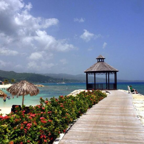 One of the breathtaking yoga studios Kelly had the opportunity to teach in on the beaches of Montego Bay, Jamaica.