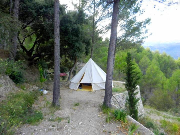 Kelly's quaint lodging atop the mountains of Spain's Costa Blanca.