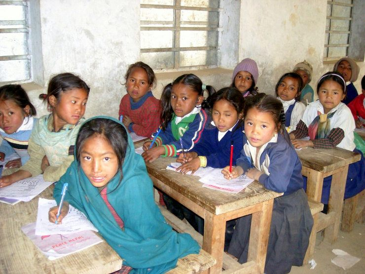 Some of the children in Nepal that Theresa is working with.