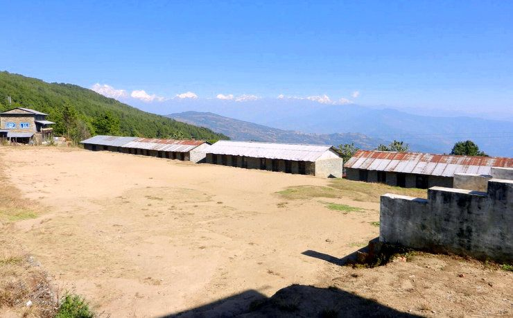 A stunning view of the school in Nepal.