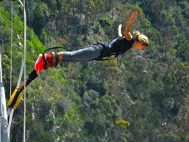 Haleigh jumping from the Bloukrans Bridge: The highest bungee bridge in the world!