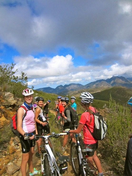 A brief break on Haleigh's 50km Odyssey cycle through the Karoo.