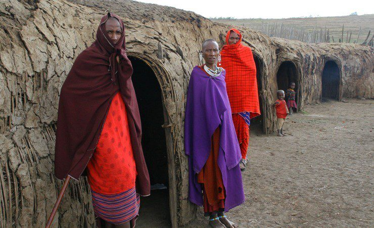 A multi-generational Maasai village in Eastern Africa.
