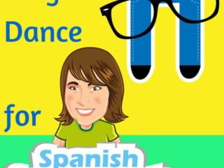 Sing and Dance for Spanish Smartypants album cover: Sing and Dance for Spanish Smartypants is a music album created to help kids take their Spanish skills past simple vocabulary and into more advanced concepts.