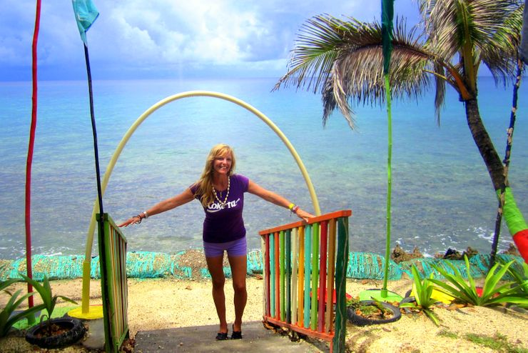 Kate in beautiful Isla San Andrés, Colombia, October 2014!