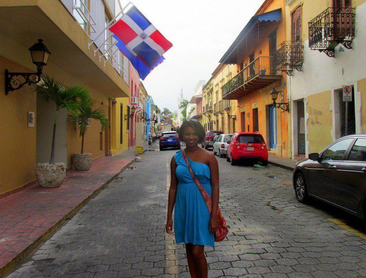 Jamilah in the colonial zone of the Dominican Republic.