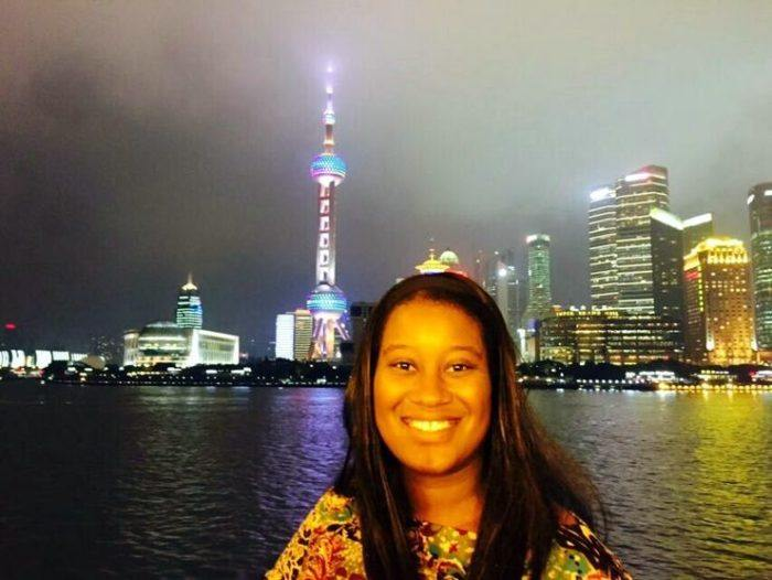 Pearl TV Tower was every bit as amazing up close as Candace had imagined!