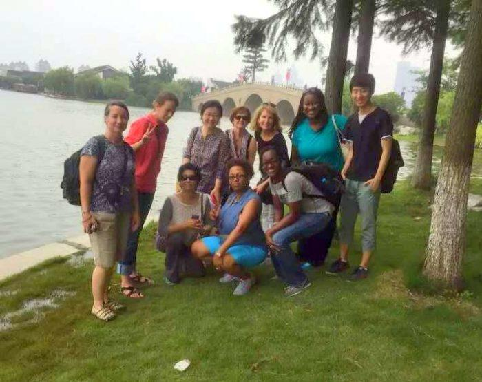 Candace and her colleagues and I at the Summer Palace in Beijing, China. It was one of the most beautiful places she's ever seen!